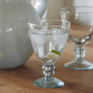 coloured wine glass tableware