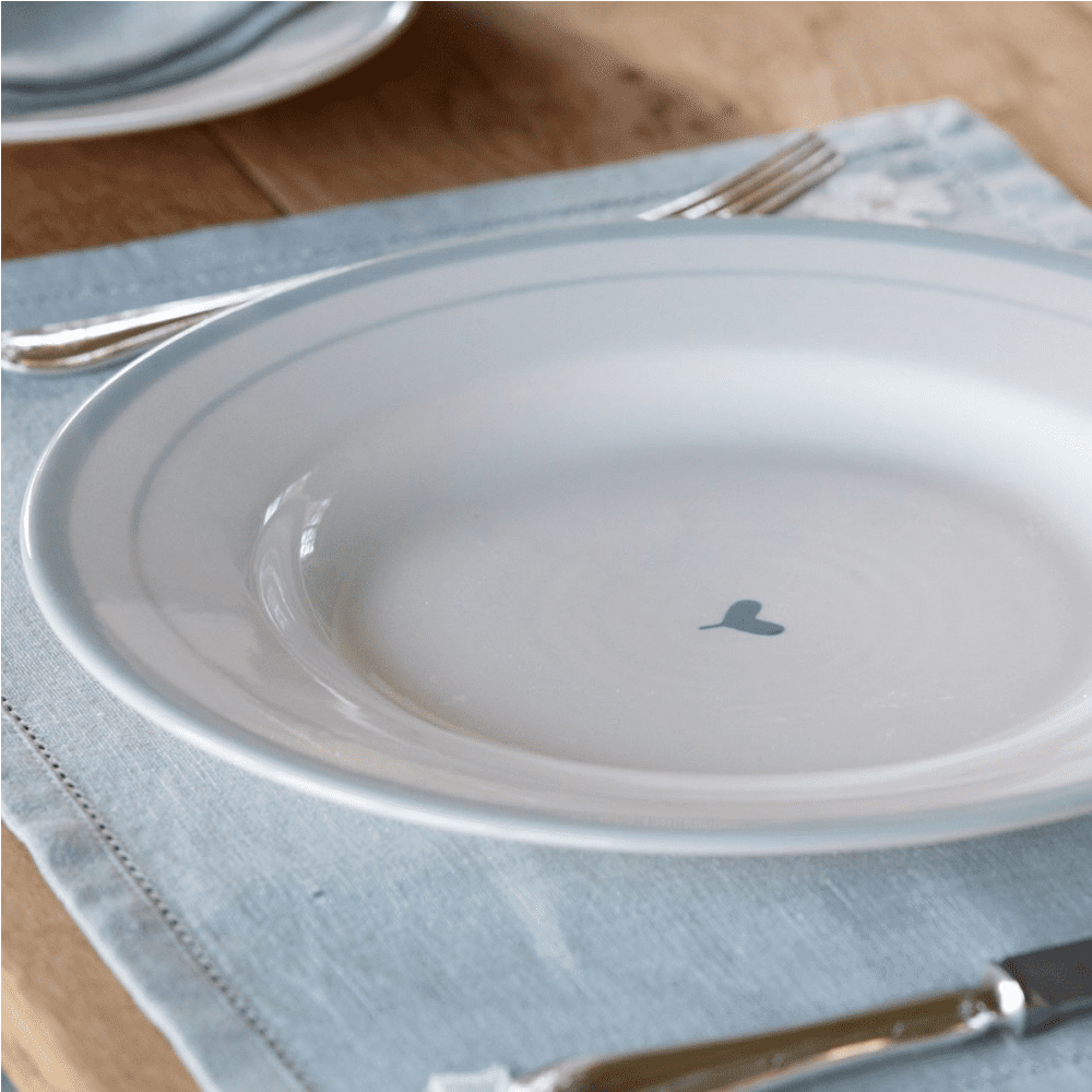 Dinner plate simply blue oscar design 29 cm susie for David james kitchen designs