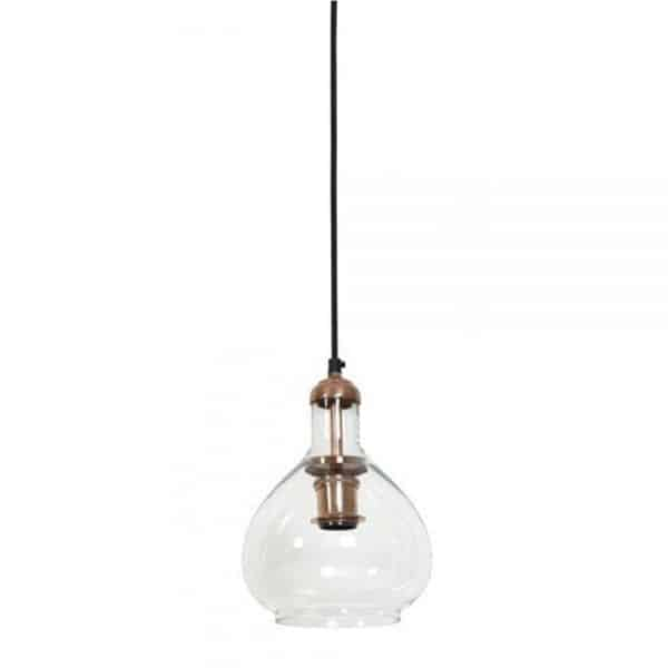 dela glass copper hanging lamp