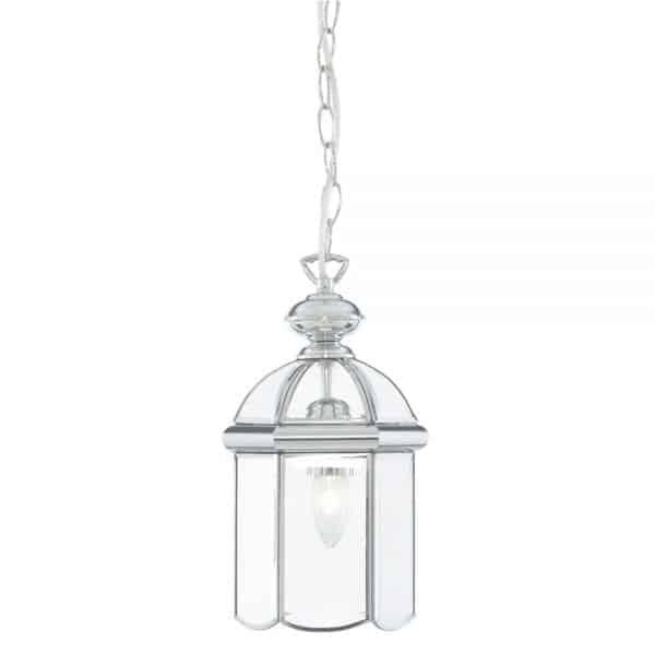 chrome lantern hanging lamp