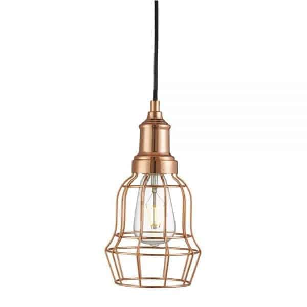 copper bell cage hanging lamp