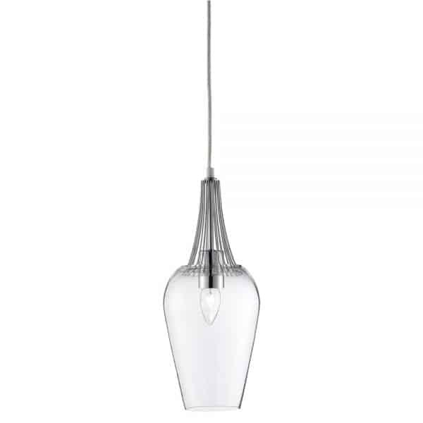 chrome whisk pendant david james lighting