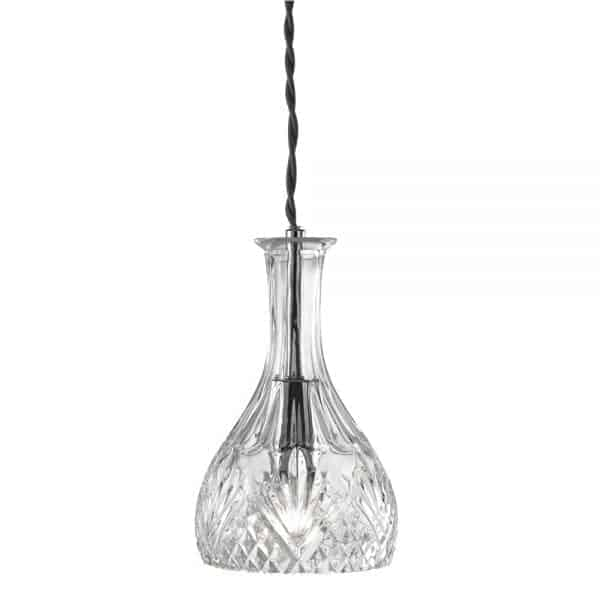 wine bar clear rounded decanter david james lighting