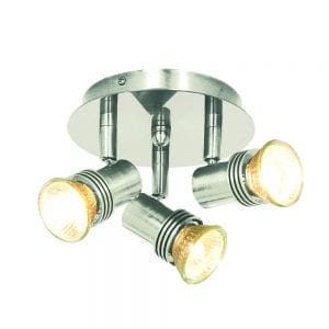satin silver pack of 6 spotlights