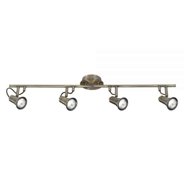 antique brass spotlight row
