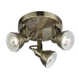 antique brass spotlight
