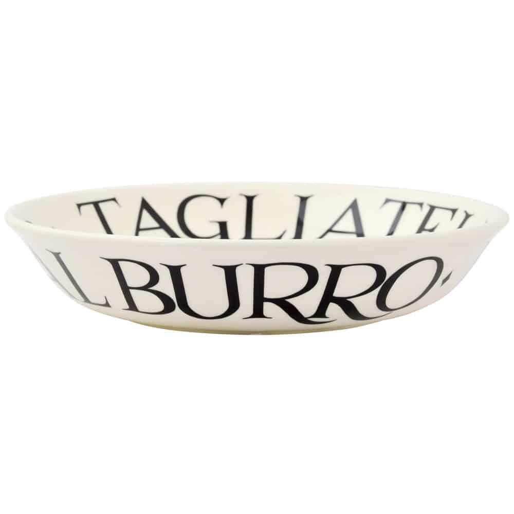 Black toast small pasta bowl david james kitchens for David james kitchen designs