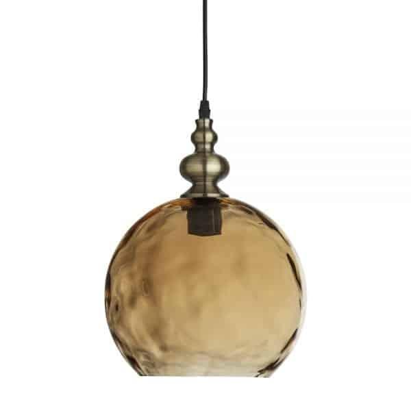 brass globe pendant
