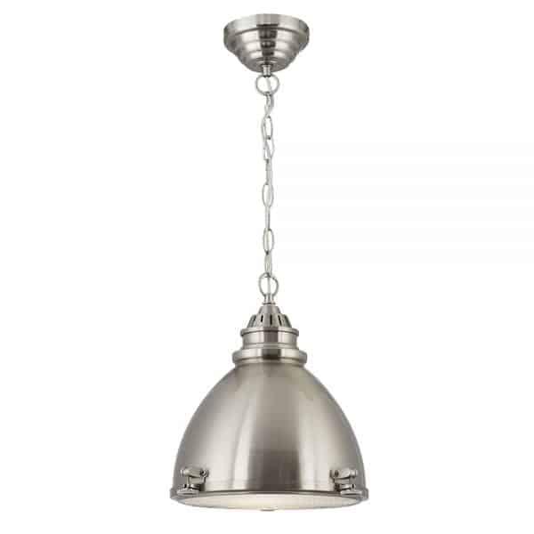 satin silver dome pendant