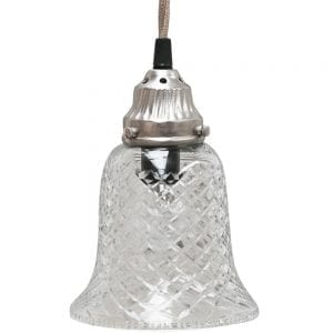 Small bell glass light