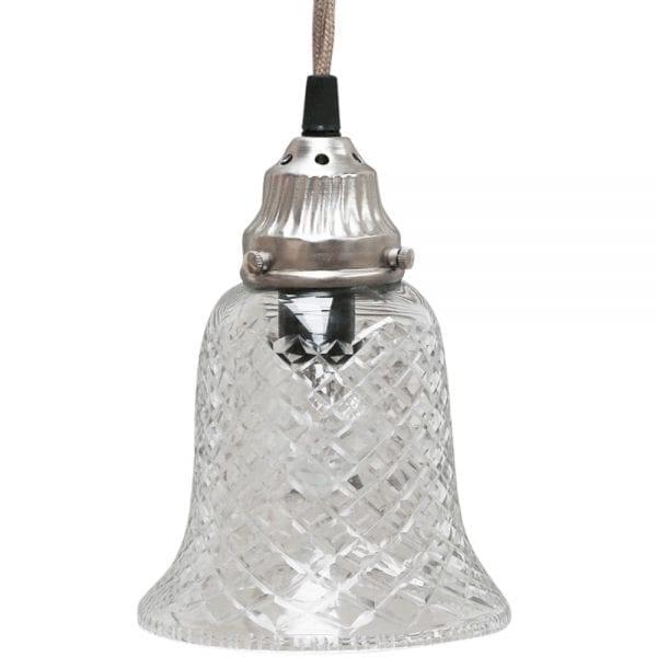 Small bell glass light